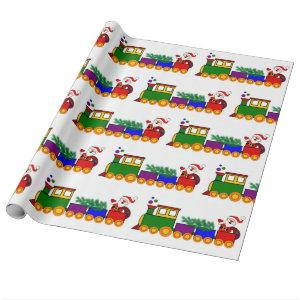 Christmas Holiday Train  Wrapping Paper