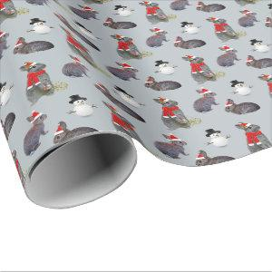 Christmas Kits Party Wrapping Paper (Ice Blue)
