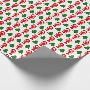 Christmas Lobsters Wrapping Paper