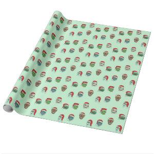 Christmas Monsters Gift Wrap Paper