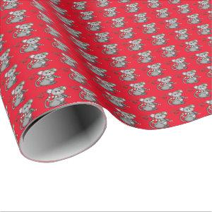 Christmas mouse Holiday wrapping paper