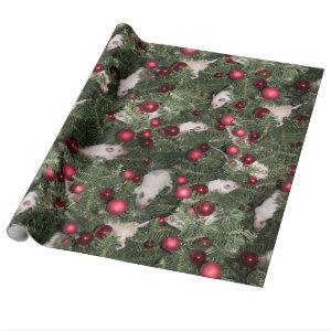 Christmas Mouse Wrapping Paper - Big Print