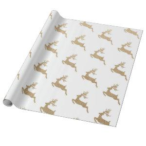 Christmas New Year Vip Deer White Cardboard Wrapping Paper