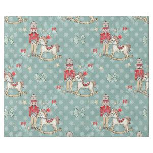 Christmas Nutcracker and rocking horse Wrapping Paper