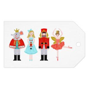 Christmas Nutcracker Character Illustrations Gift Tags
