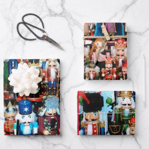 Christmas Nutcracker Wow Colorful Nutcrackers Wrapping Paper Sheets