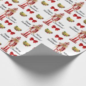 Christmas Nutcracker Wrapping Paper Personalize