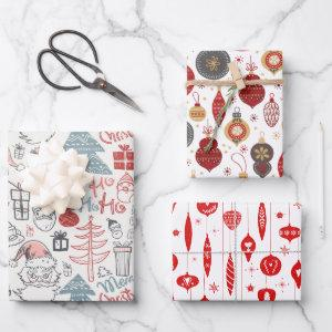 Christmas Old Style Vintage Pattern Wrapping Paper Sheets