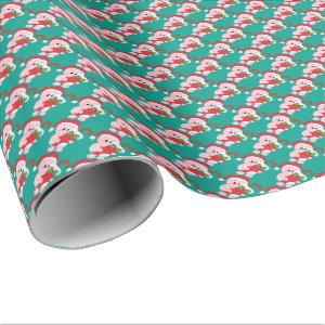 Christmas Pig Holiday wrapping paper