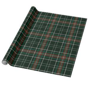 Christmas Plaid Red Green White Simple Pattern Wrapping Paper