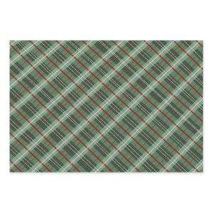 Christmas Plaid Wrapping Paper Sheets