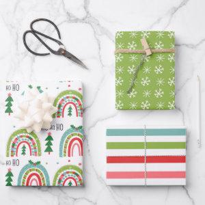Christmas Rainbow Wrapping Paper