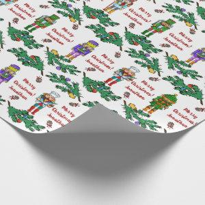 Christmas Royal Nutcrackers Personalised Pattern Wrapping Paper