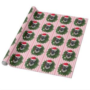 Christmas Schnauzer Wrapping Paper