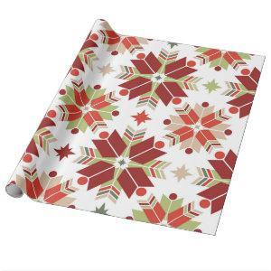 Christmas snowflake scandinavian pattern wrapping paper
