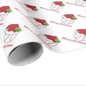 Christmas Sport Baseball Design Wrapping Paper