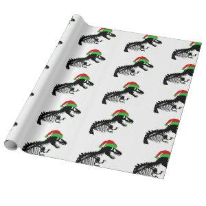 Christmas T-Rex Wrapping Paper