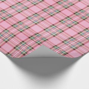 Christmas Tartan Pink/Green ID768 Wrapping Paper