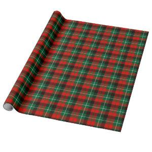 Christmas Tartan Plaid Wrapping Paper