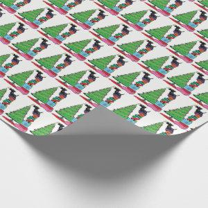Christmas Tree and Scottish Terrier Wrapping Paper