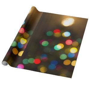 Christmas Tree Lights Holiday Gift Wrap