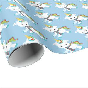 Christmas unicorn Fantasy Christmas party wrap Wrapping Paper