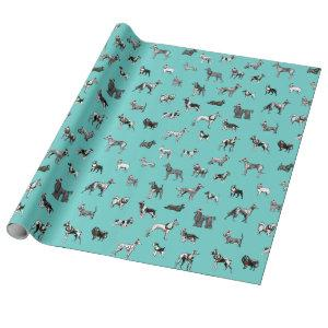 Christmas Vintage Dogs Wrapping Paper