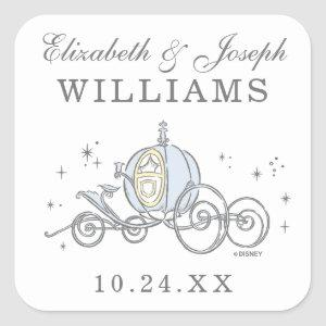 Cinderella Carriage | Fairytale Wedding Square Sticker