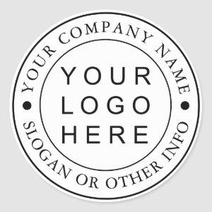 Circle Business Logo Custom Classic Round Sticker