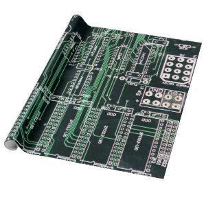 Circuit board design wrapping paper