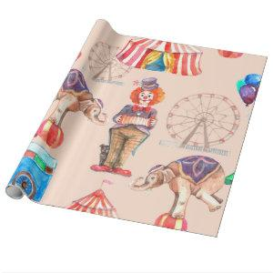 Circus Pattern Wrapping Paper