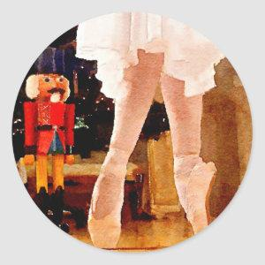 Clara and the Nutcracker Classic Round Sticker