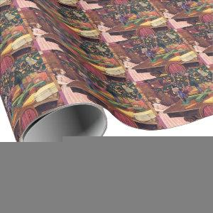 Clara and the Nutcracker Vintage Christmas  Wrapping Paper