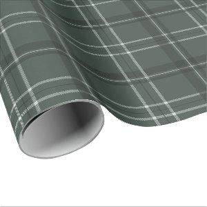 Classic bold holiday plaid hunter green wrapping paper