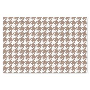 Classic Brown and White Houndstooth Pattern Tissue Paper