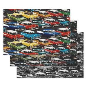 Classic Cars Wrapping Paper Sheets