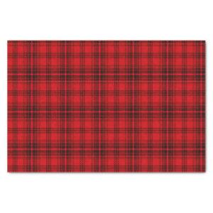 Classic Cheerful Plaid | red Tissue Paper