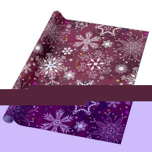 Classic Christmas Holiday Snowflake Pattern Wrapping Paper