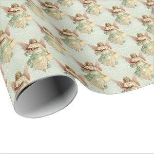 Classic Elegant Victorian Vintage Christmas Angels Wrapping Paper