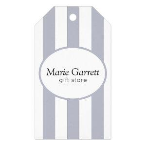 Classic Grey Stripe Business Gift Tags