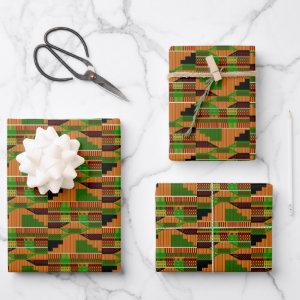 Classic Kente Wrapping Paper Sheets