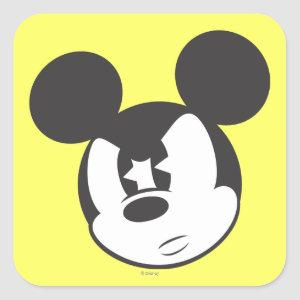 Classic Mickey | Angry Head Square Sticker