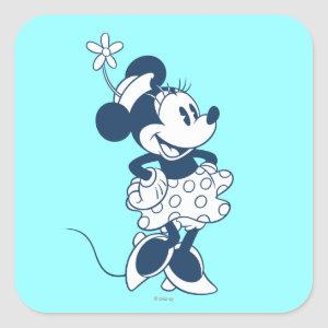 Classic Minnie | Blue Hue Square Sticker