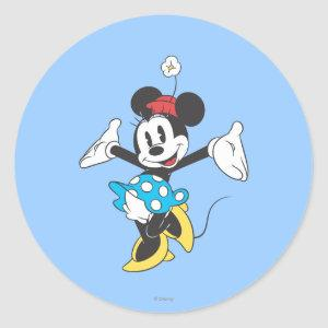 Classic Minnie | Excited Classic Round Sticker