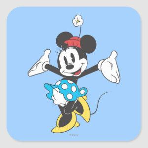 Classic Minnie | Excited Square Sticker