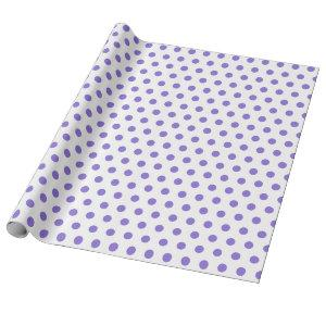 Classic Purple Polka Dot Birthday Party  Wrapping Paper