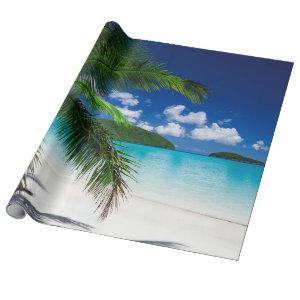 Classic Tropical Island Beach Paradise Wrapping Paper