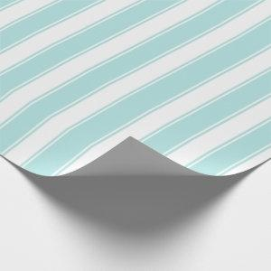 Classic White Stripe Vintage Stripe Teal Wrapping Paper