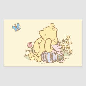 Classic Winnie the Pooh and Piglet 1 Rectangular Sticker
