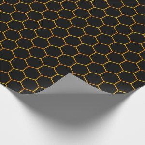 Classy Honeycomb pattern with dark background Wrapping Paper